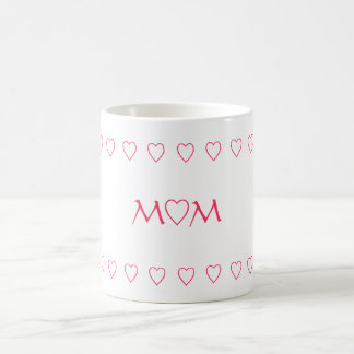 MOM W/HEARTS, MUG