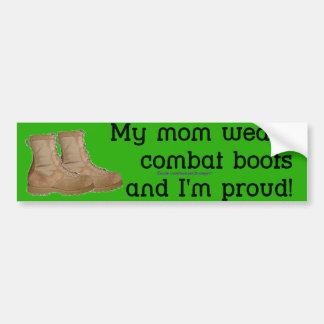 Mom Wears Combat Boots Car Bumper Sticker