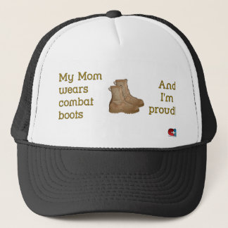 Mom Wears Combat... Trucker Hat