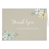 Mom Wedding Day Thank You Rustic Spring Floral Card