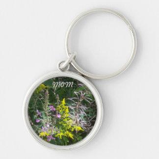 Mom Wildflower Keychain