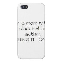 Mom with a Black Belt in Autism iPhone SE/5/5s Cover