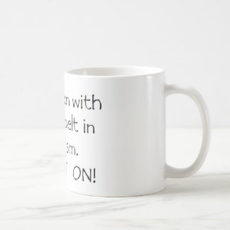 Mom with a Black Belt in Autism Classic White Coffee Mug
