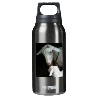 Mom with Baby Goat Insulated Water Bottle