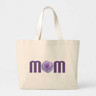 Mom with Carnation Canvas Bag