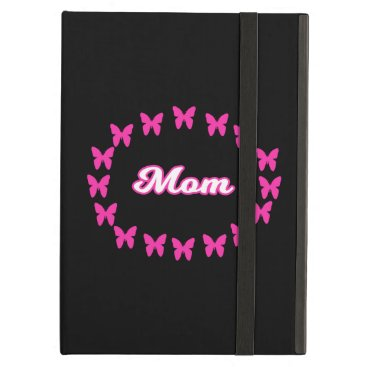 Mom With Cute Pink Butterflies Case For iPad Air