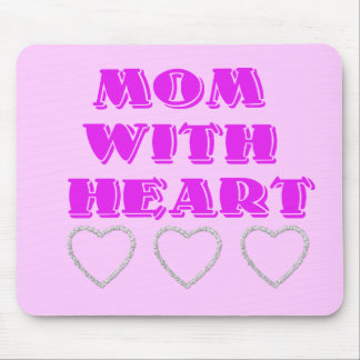 Mom with heart mouse pad
