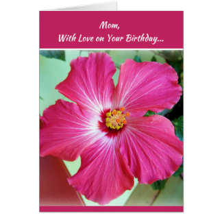 Mom, with love on your birthday... card