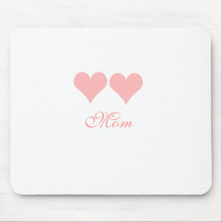 Mom with pink hearts mousepad
