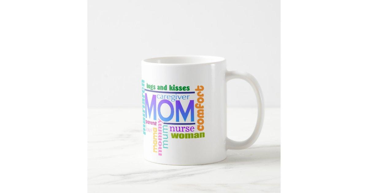 Mom Word Art Mug | Zazzle.com