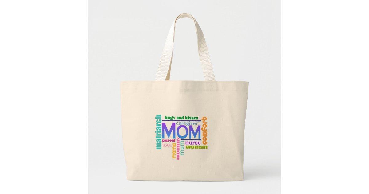 Mom Word Art Tote Bag