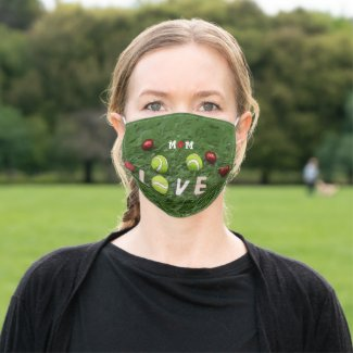 Mom Word with love tenis ball for Mother's Day Adult Cloth Face Mask