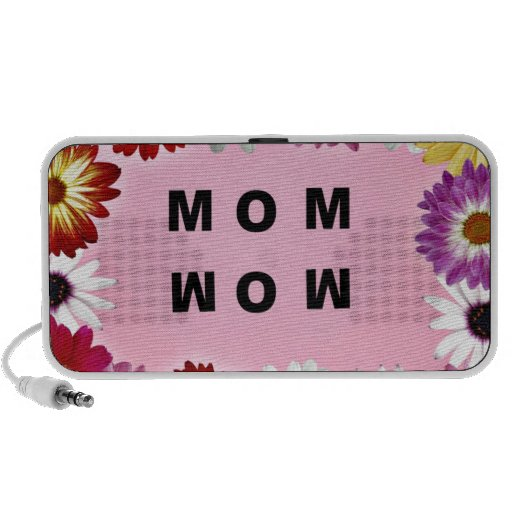 Mom - Wow, a Mother's Day message Notebook Speakers
