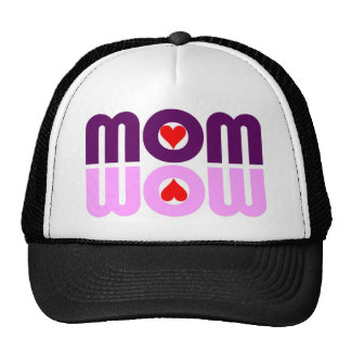 MOM WOW Red Hearts Reflection Hat