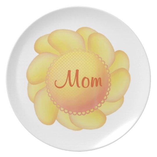Mom (yellow flower) dinner plate