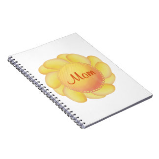 Mom (yellow flower) note book