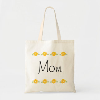 Mom Yellow Flowers Tote Bags