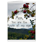 Mom, you are the Apple of my eye! Greeting Card