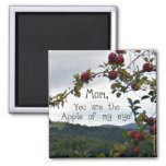 Mom, you are the Apple of my eye! Refrigerator Magnet