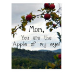 Mom, you are the Apple of my eye! Postcard