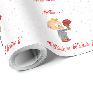 Mom, you be my Valentine ? Wrapping Paper