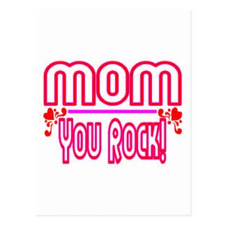 Mom You Rock Postcard