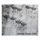 moma chairs, MOMA Chairs 2009 Poster