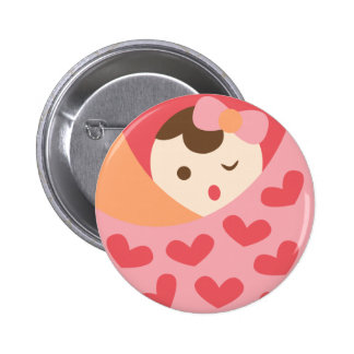 MomBabyGirl15 Pinback Button