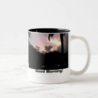 Mombasa Sunset, Good Morning! Two-Tone Coffee Mug