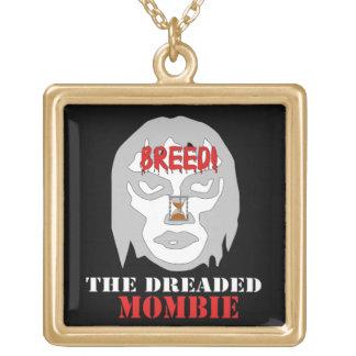 Mombie Breeder Square Pendant Necklace