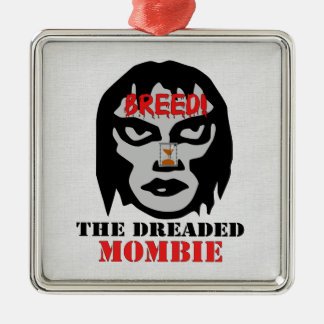 Mombie Breeder Square Metal Christmas Ornament