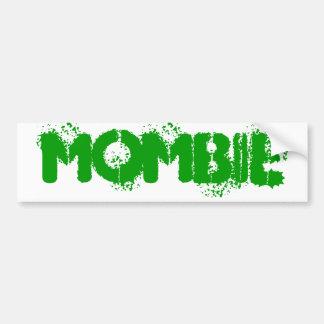 Mombie Bumper Green Bumper Sticker