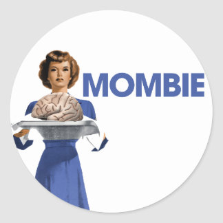 Mombie Classic Round Sticker