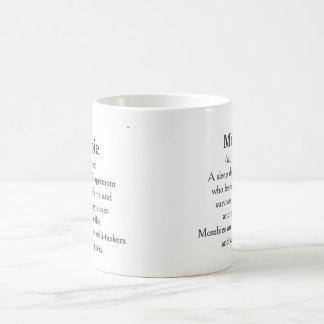 Mombie Classic White Coffee Mug