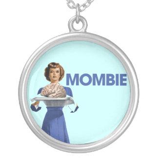 Mombie Round Pendant Necklace