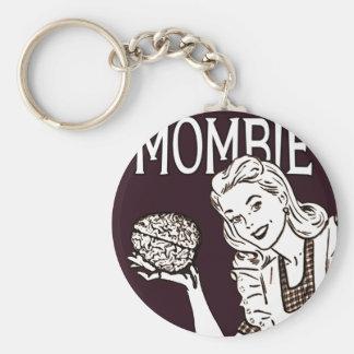 Mombie Retro Zombie Keychain