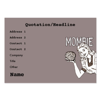Mombie Retro Zombie Large Business Cards (Pack Of 100)