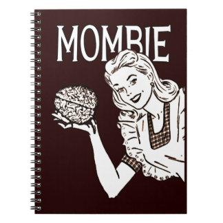 Mombie Retro Zombie Mom Notebook