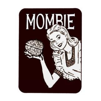 Mombie Retro Zombie Mom Magnet