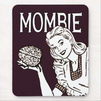 Mombie Retro Zombie Mouse Pad