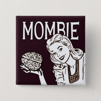Mombie Retro Zombie Pinback Button
