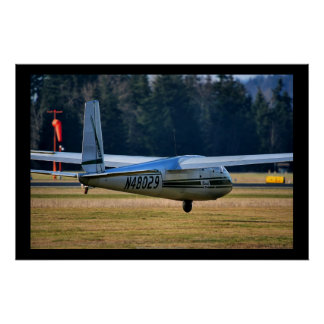 Moment Before Touchdown - Blanik Glider Poster