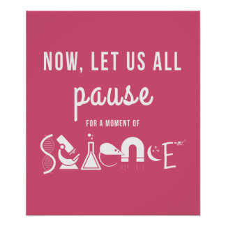 Moment of Science Hot Pink Poster