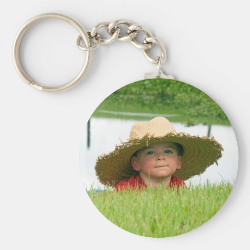Moment to Share 1 Color Basic Round Button Keychain
