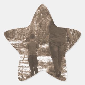 Momento capturado pegatina en forma de estrella