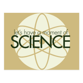 Momento de ciencia tarjeta postal