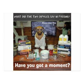 Momento de dipolo del perro del conocimiento tarjetas postales