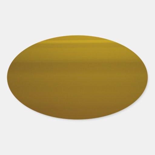 Momento de oro pegatina ovalada