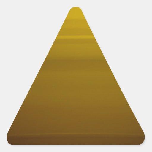 Momento de oro pegatina triangular