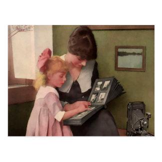 Momento del álbum de foto 1900 s temprano tarjetas postales
